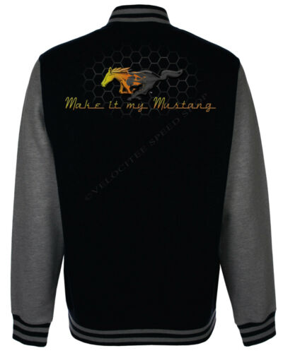 Ford Baseball Varsity Jacket Licensed Classic Mustang Grille Logo A14971