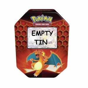 EMPTY-Pokemon-Card-Storage-Tin-Charizard-GX-Empty-Hidden-Fates-2019-Collection