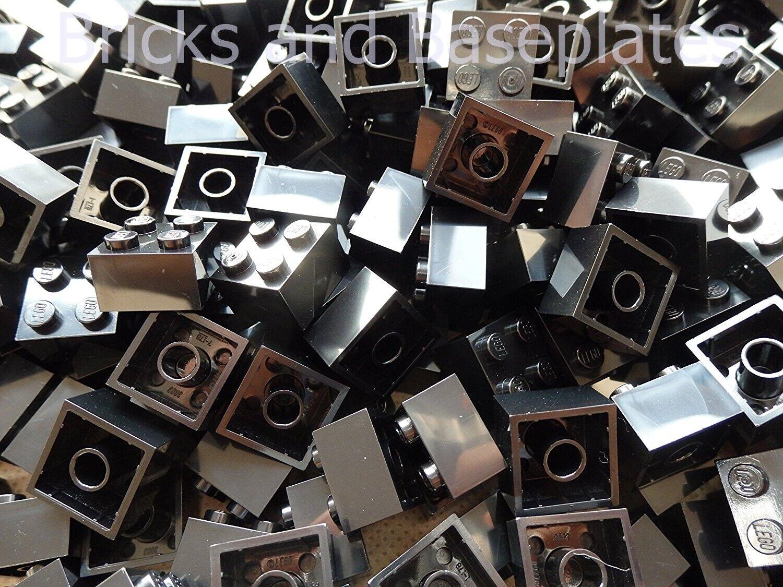 LEGO Mattoni 500 X Nero  2x2 Pin da Set Di Nuovo di Zecca inviati in un sacchetto sigillato  spedizione veloce a te