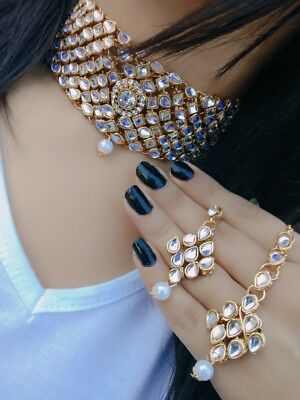 Pakistani Jewelry Sabyasachi Choker Pakistani Necklace Indian Choker Indian Necklace Indian Jewelry Pink Fine Kundan Choker