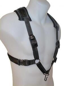 BG-S40CM-Men-039-s-Alto-Tenor-Baritone-Saxophone-Comfort-Harness-with-Metal-Hook