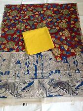 Ethnic Kalamkari Pure Cotton Printed Dress Material