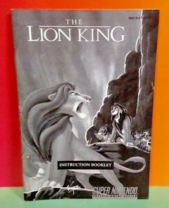 Disney The Lion King - SNES Super Nintendo - Instruction MANUAL ONLY - No Game