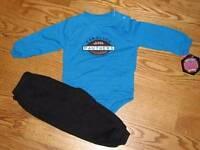 Baby Boys Carolina Panthers Creeper Pants Set Outfit Size 18m 18 Mo Bodysuit