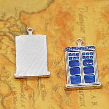Doctor Who Tardis 31mm Wholesale Blue Enamel Police Box Charms 2//4//8PCs