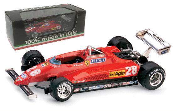 BRUMM R288 FERRARI 126C2 Turbo 3ème gp italien 1982-Mario Andretti, échelle 1 43,