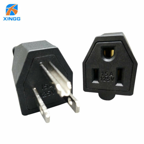 US American 3 Pins Industrial AC Electrical Power Rewireable Plug Male W// Wire