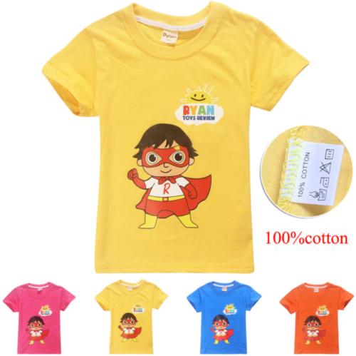 Ryan Toys Review T-Shirt Children Kids Boys Girls Summer Cotton Tee Tops Gift