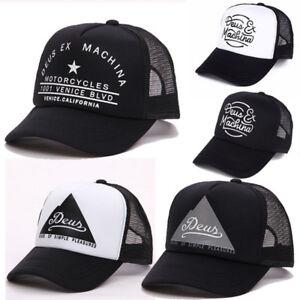 Details about Men Womens Deus Printed Mesh Baseball Cap Summer Trucker  Snapbacks Hat 8cb54887c8d