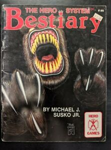 1x-Hero-Games-The-Hero-System-Bestiary-Used-Damaged-RPG-Other