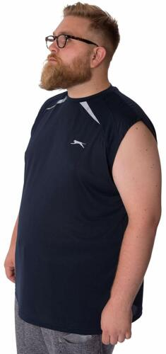 Slazenger Mens Big King Plus Size Sports Vest Branded Sleeveless Activewear Gym