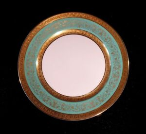 Stunning-Antique-Rosenthal-Selb-Plossberg-Gold-Encrusted-Aida-Lunch-Plate