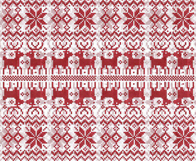 Nordic REINDEER and Snowflake ~ Christmas Tissue Paper # 733 ~ 10 Large Sheets