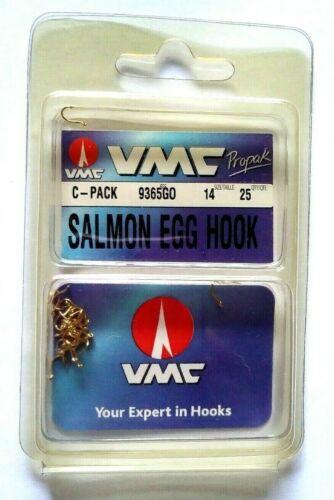 VMC  C-Pack 93650GO Size 14 Qty 25 Salmon Egg Hook          Item Q 38