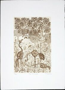 Felicity-Rainnie-Vintage-Etching-The-Orchard-Pencil-Signed-Limited-Edition