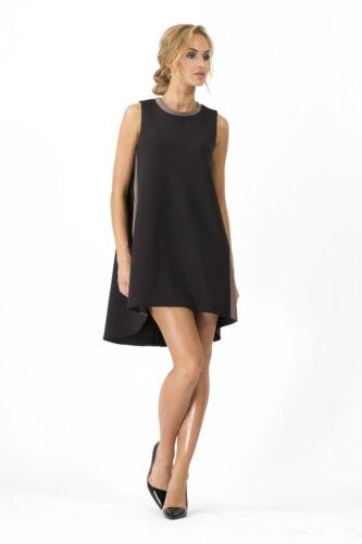 Loose Shift Dress Tunic Sleeveless Crew Neck Cocktail Style Sizes S M FA349
