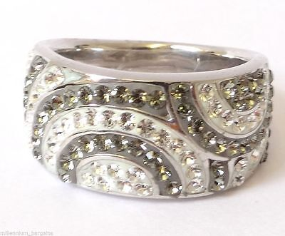 F/&F jewel Dazzling Pink /& White Jewelry Silver Color Ring Beauty Rings For Women Wedding Rings