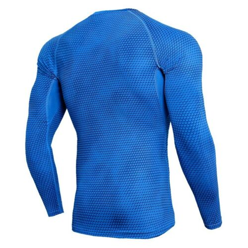 Men/'s Compression Tops Running Gym Long Sleeve Wicking Tight fit Spandex Shirts