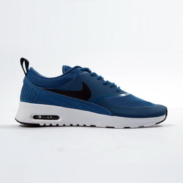 NEW 599409 415 Women's NIKE AIR MAX THEA Shoe!! INDUSTRIAL BLUEOBSIDIAN WHITE