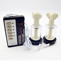 Estim Electrosex Shock Pulse Nipple Stimulation Enlargement Vacuum Pump Kit