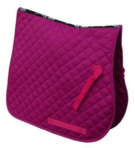 Rhinegold-Cotton-Quilted-Saddlecloth-in-Raspberry