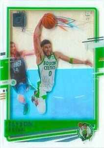 Jayson Tatum 2020-21 Clearly Donruss Basketball See Through Acetate Card #31 NBA