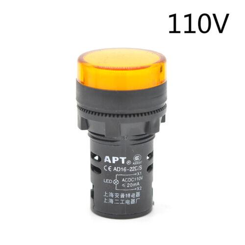 Replacement 12~220V 22mm Panel Mount LED Power Indicator Pilot Signal Light Lamp