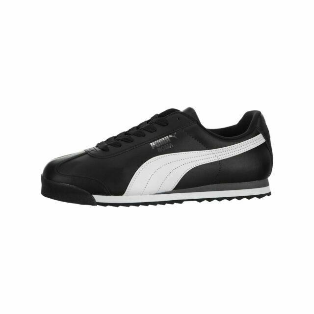 Size 10.5 - PUMA Roma Basic Black White for sale online | eBay