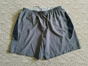 EUC-MEN-039-S-SAUCONY-RUNNING-ATHLECTIC-SHORTS-SZ-XL-GRAY-MESH-LINER-DRAWSTRING