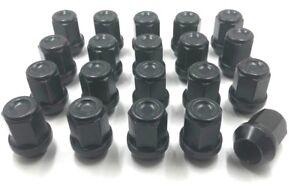 3 20 X Aleación Tuercas De Rueda Negro Para Volvo V50 M12 X 1.5 60 Cono Pernos Lugs Stud