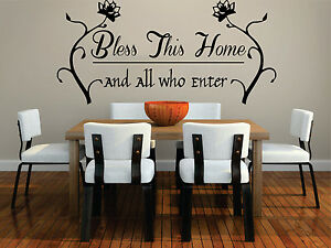 Image Is Loading BLESS THIS HOME WALL ART QUOTE STICKER DINING