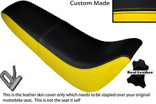 BLACK & YELLOW CUSTOM FITS KINROAD XT 50 GY DUAL LEATHER SEAT COVER
