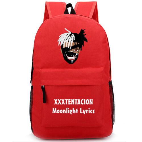 Rapper Xxxtentacion Women Mens Fashion Backpack SchoolBag for Teenagers Gifts