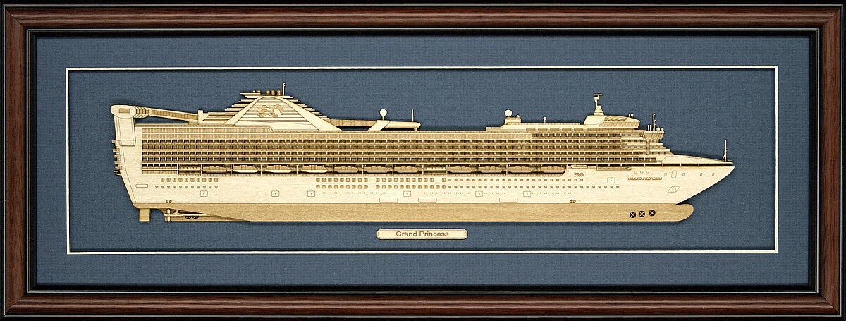 Madera Cutaway model of Grand Princesa-Hecho en EE. UU.