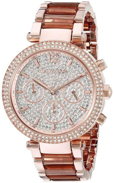 8d025820cccb Michael Kors MK6285 Parker Rose Gold Dial Rose Gold Chronograph Women s  Watch