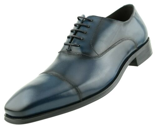 Style AG563 Asher Green Mens Genuine Leather Smooth Cap Toe Lace Up