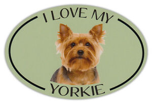 Oval-Dog-Breed-Picture-Car-Magnet-I-Love-My-Yorkie-Yorkshire-Terrier