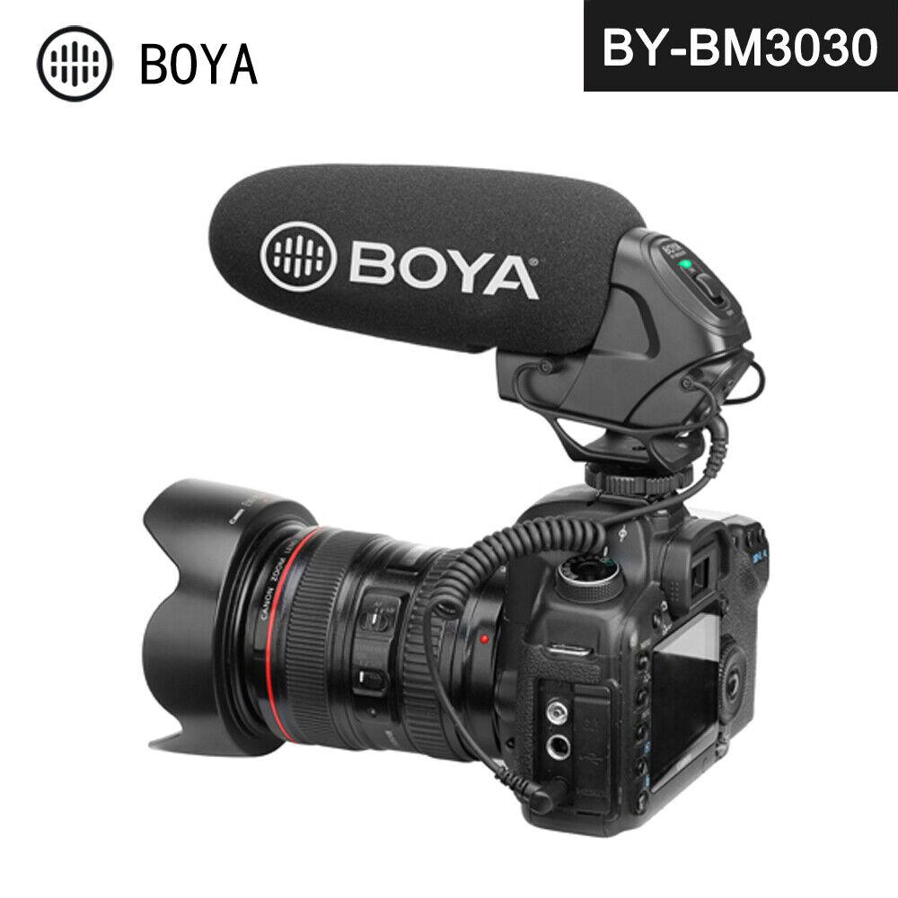 BOYA BY-BM3030 On-Camera Shotgun Microphone 3.5mm Headphone Jack for Canon Nikon