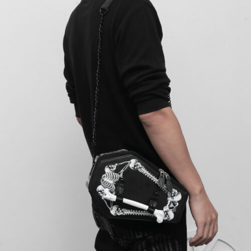 Details about  /Halloween Skull Bat Bag Large Capacity Messenger Bag Portable Crossbody Bag