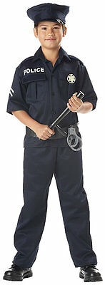 California Costume Police Officer Uniform Cop Outfit Child Costume 00343  New