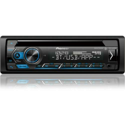 Pioneer Single-DIN Bluetooth CD Receiver with Smart Sync App Compatibility and M