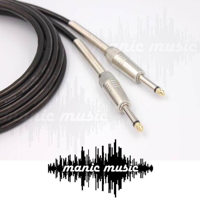 "Guitar Cable 1/4"" 6.35 Mono Jack Instrument Audio Mic Lead Australian Made"