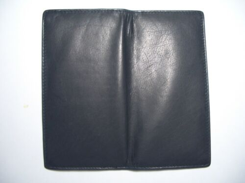 New Design!!! 100/% Genuine Leather-Checkbook cover with extra divider black