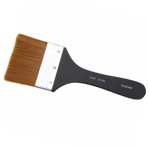 7 Models Flat Tips Artist Brush Nylon Hair Oil Painting Watercolor Paint Art Pen
