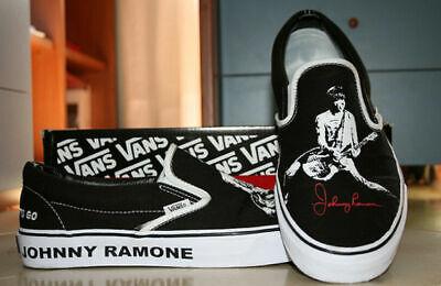 JOHNNY RAMONE Rare Vans Slip On Shoes NEW IN BOX! 7.5, 8 RAMONES | eBay