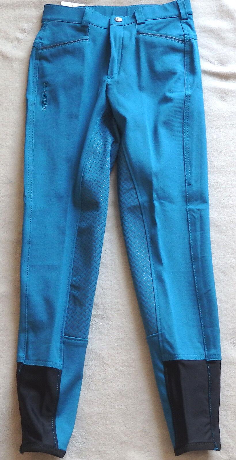 Kinder Reithose  mit Gripvollbesatz ,royal blue,Gr.158 ,lavarella  (18)