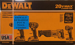 Dewalt-DCK420D2-20V-MAX-Cordless-Lithium-Ion-4-Tool-Combo-Kit-Brand-New