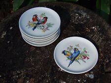 SET 6 Bird BUTTER PATS Bavarian SCHUMANN ARZBERG E R Golden Crown Coasters Plate