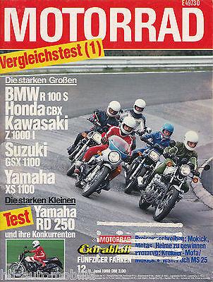 Pflichtbewusst Motorrad 1980 12/80 Honda Monkey Bmw R100s Xs1100 Guzzi Le Mans Puch Ms 25 Moto Um Zu Helfen, Fettiges Essen Zu Verdauen