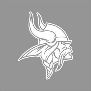 Minnesota Vikings 2 Nfl Team Logo 1color Vinyl Decal